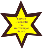 Service  Diagnostic Fee  Waived upon  Repair